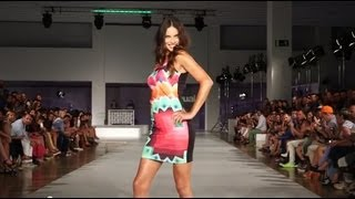 Desigual Spring Summer Collection 2014 | Barcelona 080 Fashion Week | Catwalk with Adriana Lima
