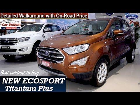 New Ecosport Titanium Plus Detailed Review with On Road Price | Ecosport Titanium+