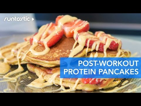 The Most Delicious & Easy Strawberry Protein Pancakes (Recipe Swap with Whitney English)