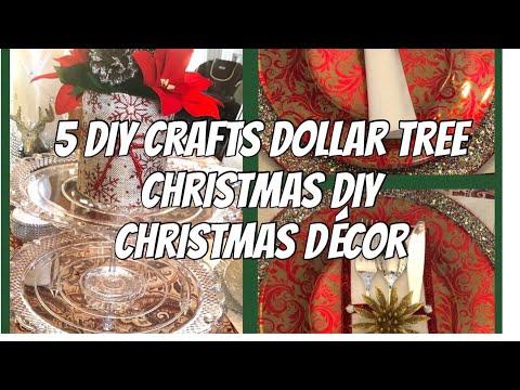 5 DIY Crafts| Dollar Tree  Christmas Décor| Table  Decorations Ideas Glam DIY Dollar Tree Décor