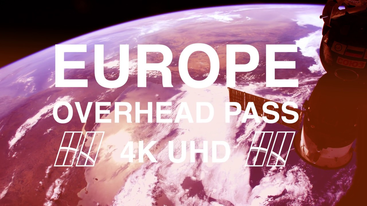 Europe from Space in 4K