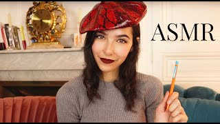 ASMR Drawing You (French Artist, Face tracing, Personal Attention...)
