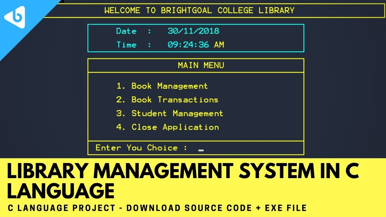 Library Management System In C Language C Language Project With