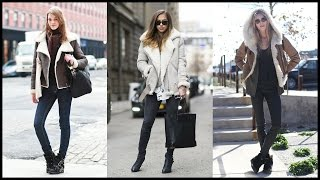 How to Wear Shearling Jackets For The Cold Winter Days