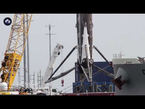 Return of the first re-used Falcon 9 booster to Port Canaveral