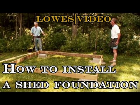 How to install a shed foundation