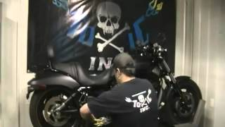 toxic pipes double barrel v rod exhaust pipe without baffles