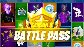 Fortnite Season X Battlepass Overview - (Skins , Map changes ,Tier 100)