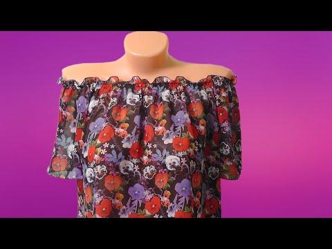 Шьем блузку без выкройки из старого платья