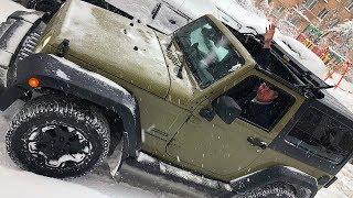 Jeep Wrangler JK. Москву завалило снегом. А мы в домике )