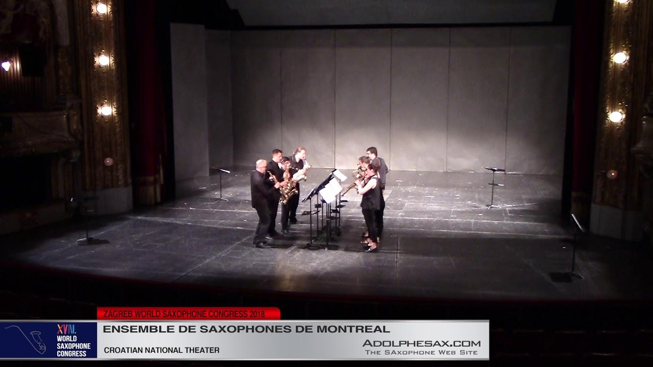 Musique Contextuelle   Ensemble de Saxophones de Montreal   XVIII World Sax Congress 2018 #adolphesa