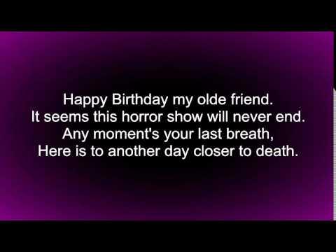 Happy Birthday My Olde Friend Lyrics Youtube