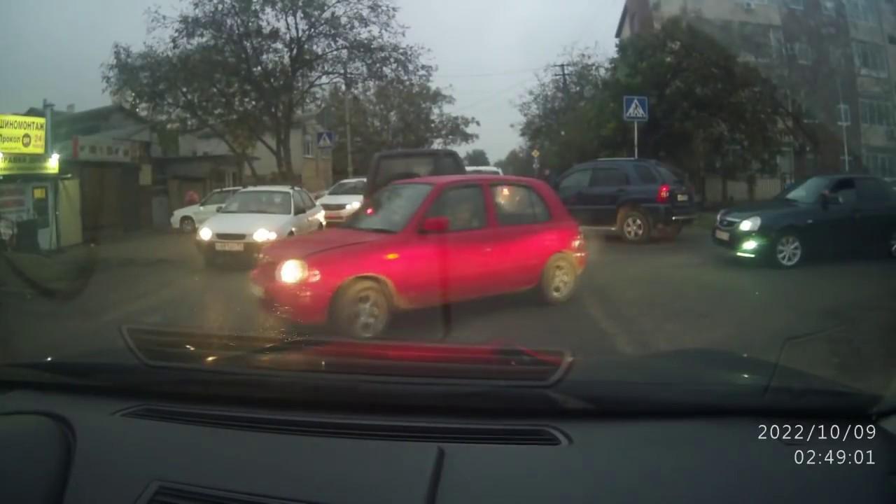 Поездка 26.10.17г. авария и дебилы на дороге