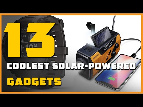 13 Coolest Solar-Powered Gadgets for Uninterrupted Utilizations