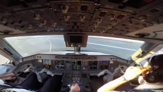 Take Off Warsaw EPWA Embraer 175 Pilot`s View GoPro HD