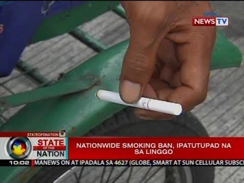 SONA: Nationwide smoking ban, ipatutupad na sa Linggo