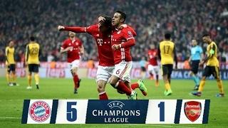 fc bayern munich vs arsenal 5 1 leg 1 uefa champions league 2016 17 16 february 2017