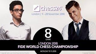 Caruana-Carlsen, Game 8 - 2018 FIDE World Chess Championship