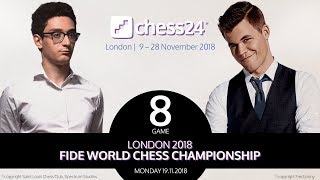 Caruana-Carlsen, Game 8 - 2018 FIDE World Chess Ch...
