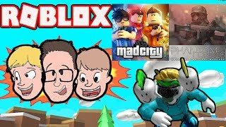 MAD CITY & Phantom Forces Roblox Live Gameplay | Update | Family Friendly Roblox 2019