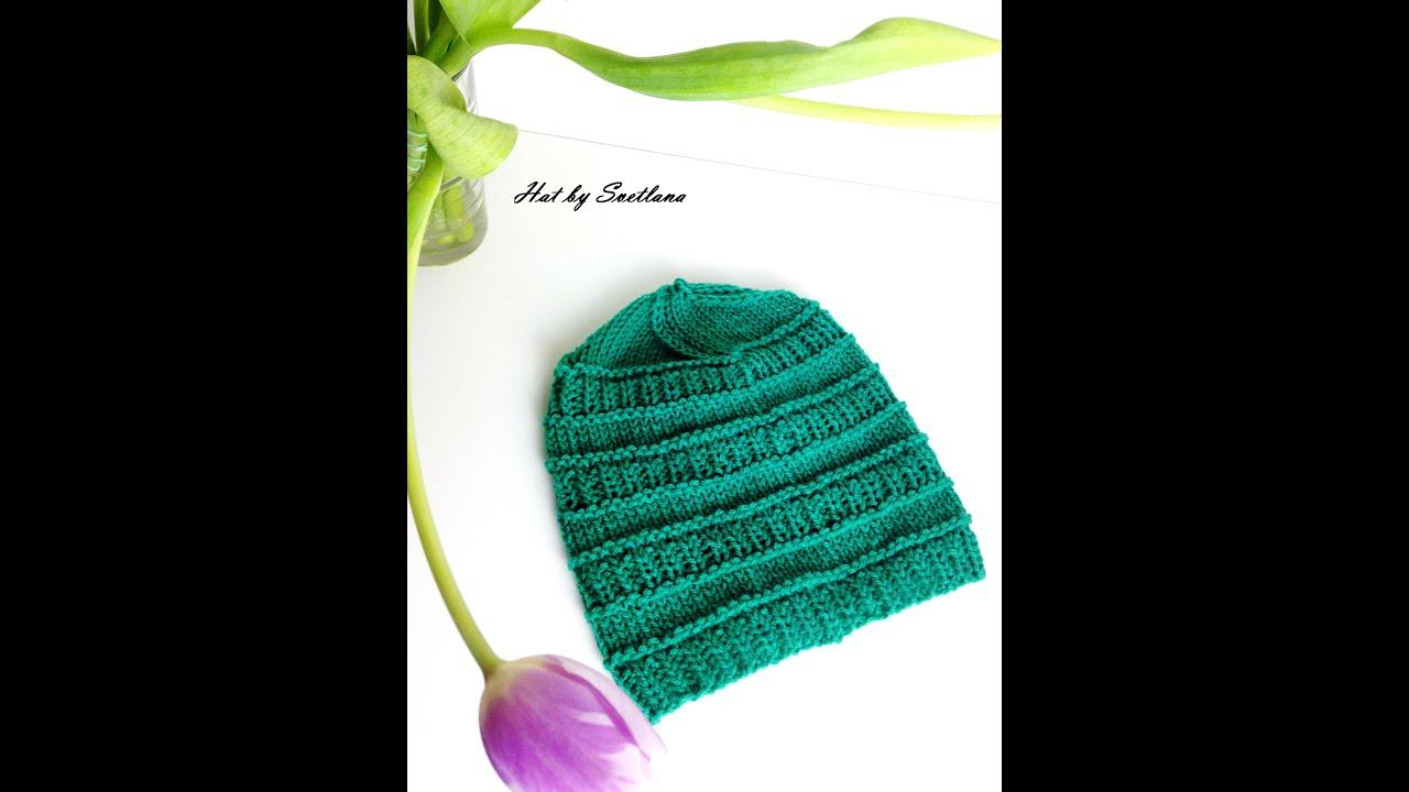 Tuto bonnet bébé/enfant simple et facile à tricoter - YouTube