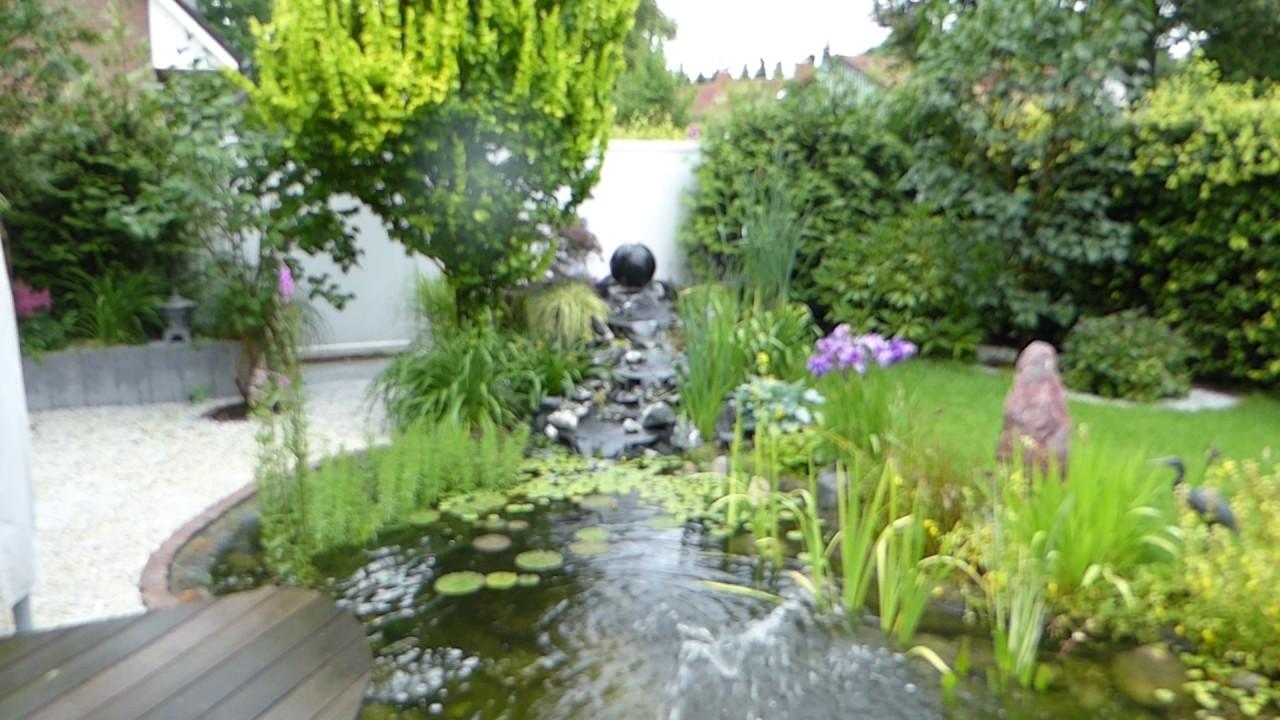 Gartenteich wasserlauf wasserfall youtube - Gartenteich wasserlauf ...