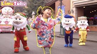 라임의 크리스마스 축제 댄스 타임! 에버랜드 퍼레이드 LimeTube & christmas songs for kids