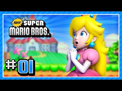 New Super Mario Bros. (DS) 100% - World 1-1, 1-2, 1-3, 1-Tower