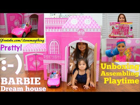 Dollhouse: Barbie Dreamhouse. A Kid Sized Dollhouse for Toddlers and Kids. Barbie Doll and Car