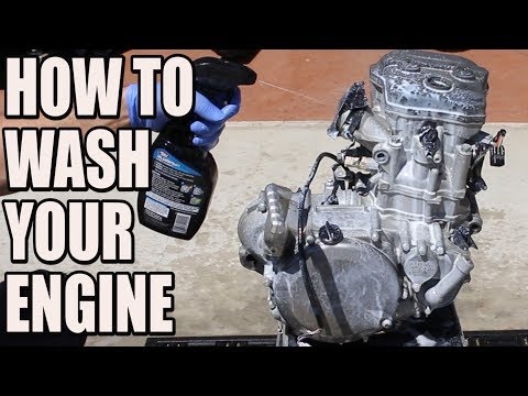 How to wash your dirt bike engine - RMZ 450 build part3