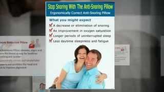 Best Anti Snore Pillow Mild Sleep Apnea SnoreLess Pillow