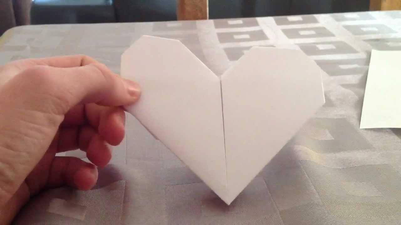 Faire Un Coeur En Origami Coeur En Papier Youtube