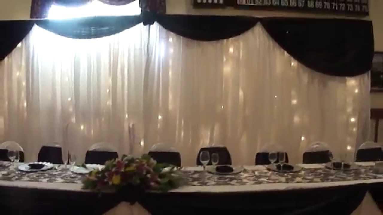 Cornejos event planner boda en ies negro y blanco youtube - Decoracion salon blanco y negro ...