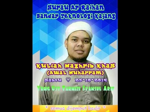 Ma'al Hijrah - Ustaz Tarmizi Shamsul Arif Surau Ar-Raihan 25 Okt 2014