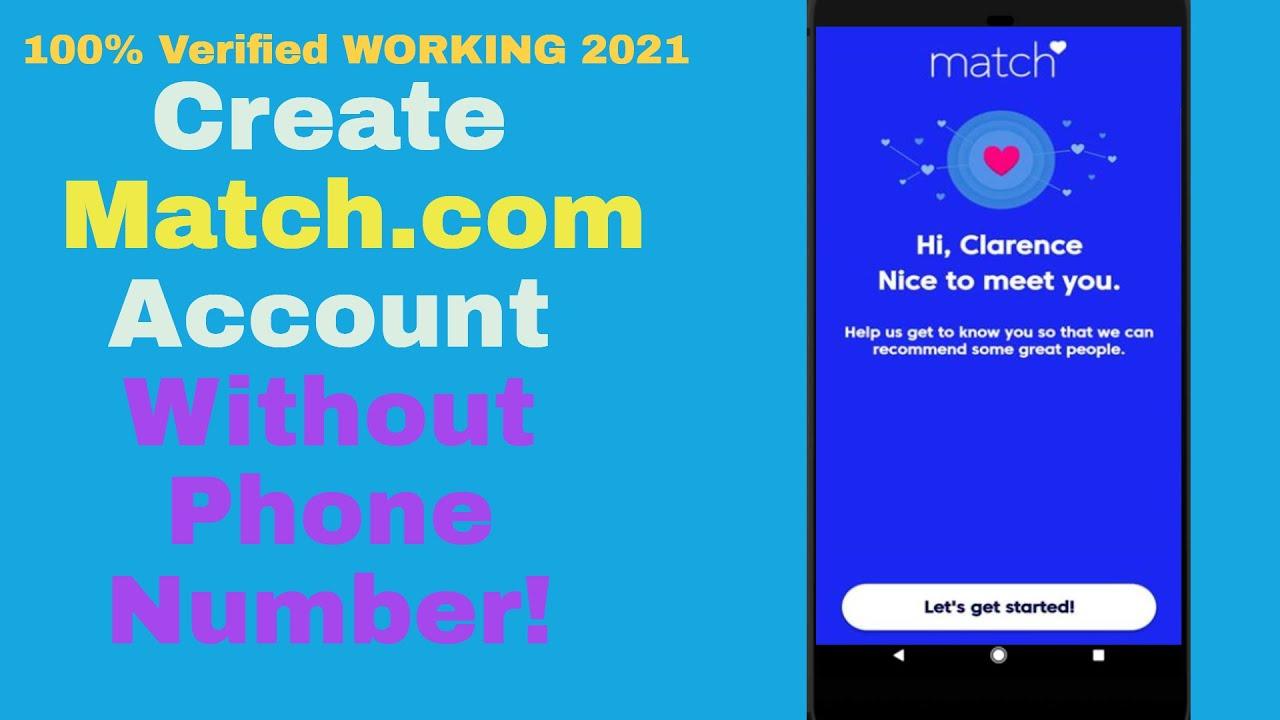 Match com create account