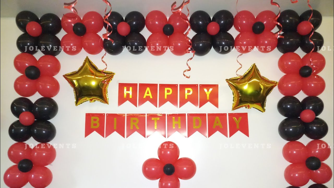 Birthday Surprise Room Decoration On Wife S Birthday At Home Simple Balloon Decoration At Home Youtube