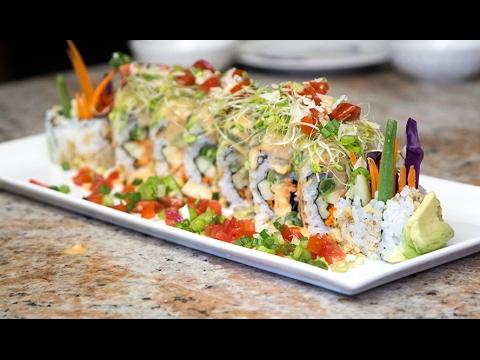 Spring Vegan Sushi Roll - Grill Wasabi
