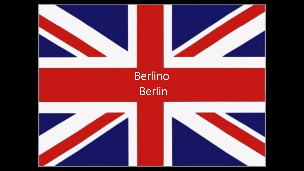 Corso Di Inglese Come Pronunciare Occidentali Capitali Europee