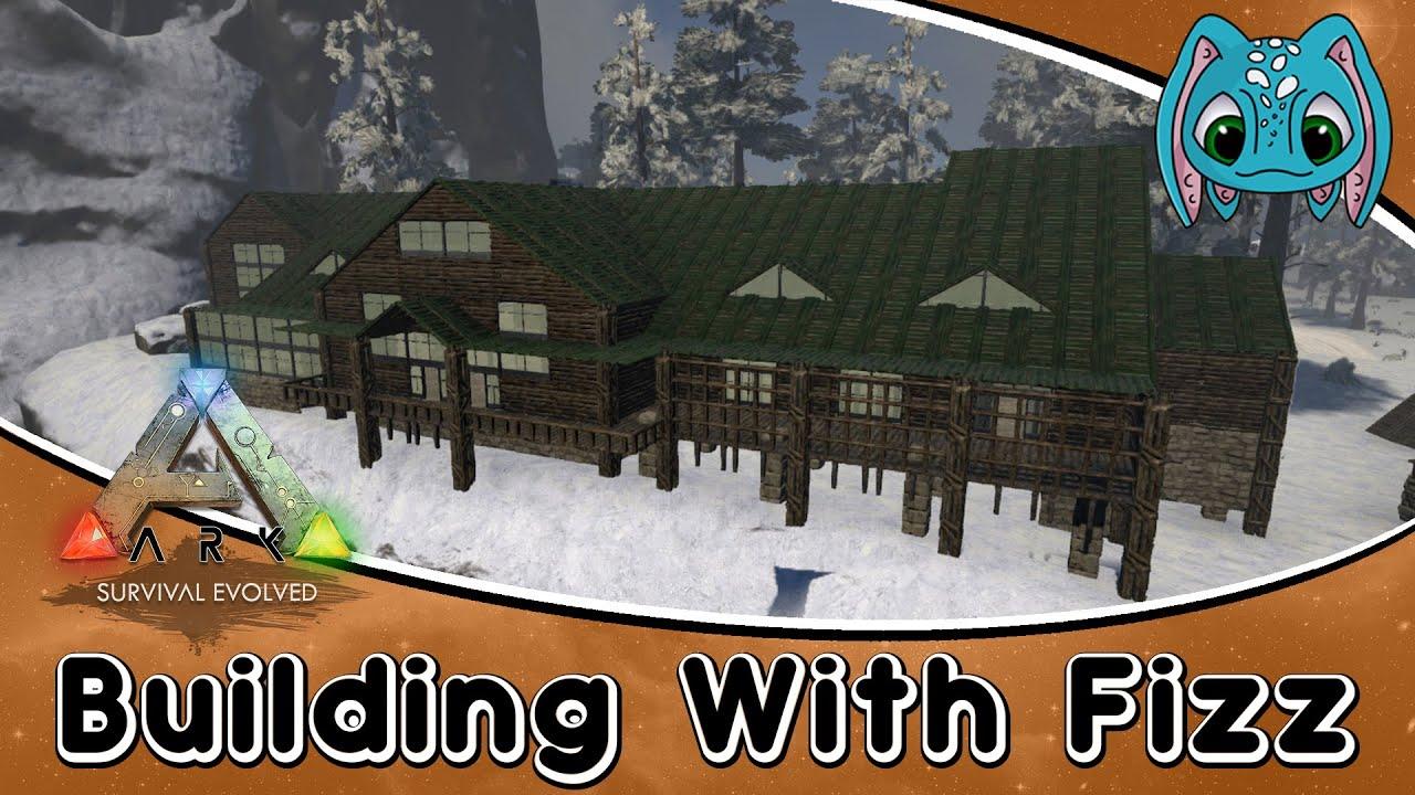 ARKSurvival Evolved Building W Fizz Large Log Cabin