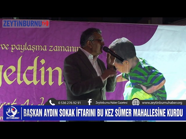 Zeytinburnu'nda Üçüncü Sokak İftar Sofrası Sümer Mahallesinde kuruldu