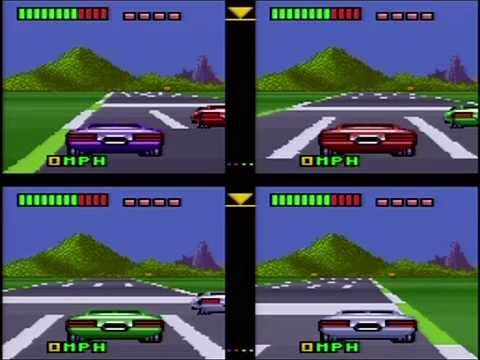 Top Gear 3000 - Four-Player VS Mode (Actual SNES Capture)