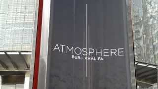 At Atmosphere Burj Khalifa Main Entrance, Dubai, UAE. 24.09.2012