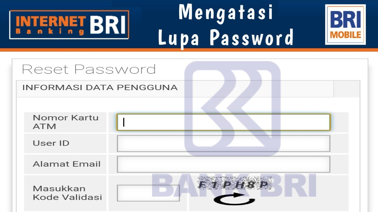 Cara Mengatasi Lupa Password Mobile Banking Bri Reset Internet Banking Bri Youtube