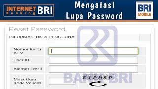 Download Cara Mengatasi Lupa Password Mobile Banking BRI | Reset Internet Banking BRI Mp3 and Videos