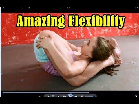Gymnastic Stretch Flexibility Amazing Contortionist  - Extreme contortion Flexilady model yoga II HD
