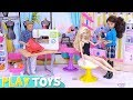 Barbie Girl and Ken Baby Dolls Fashion Beauty Salon!