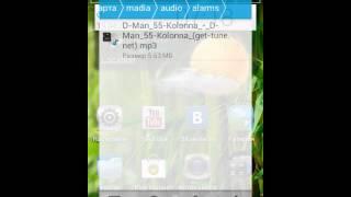 как установить свою музыку на звонок , на будильник.mp4(, 2014-04-19T03:23:30.000Z)