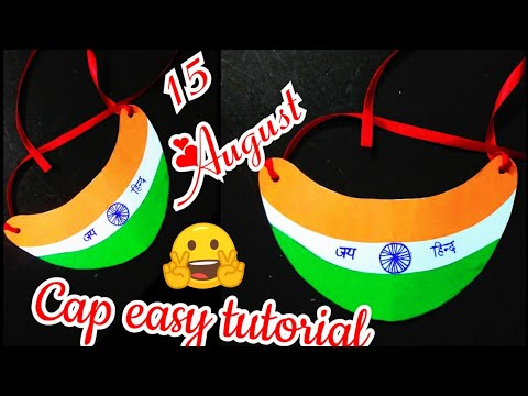 DIY tricolor cap | cap making for independence day | Tiranga cap for kids step by step making🇮🇳😍