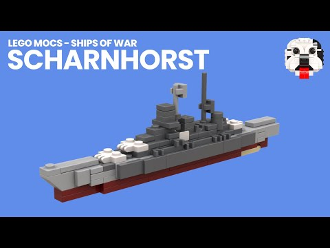 Lego Mocs Ships Of War Mini Lego Scharnhorst Battleship Video
