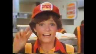 Lea Thompson 1982 Burger King Baseball Commercial